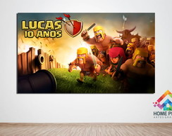 Painel Lona 1 x 1,70 - Clash Of Clans