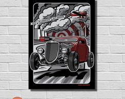 Placa Decorativa - Carros Antigos Poster
