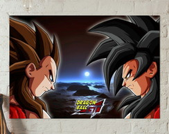 Poster Placa Dragon ball GT Sayajin 4