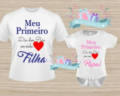 kit camiseta e body Dia dos Pais