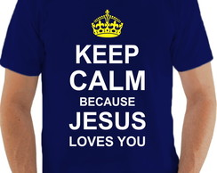 Camiseta Keep Calm Jesus te Ama