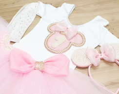Conjunto Minnie de Cristais