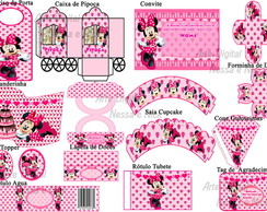 Kit Digital Minnie Rosa Choque