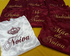 Kit com 8 Robes de Cetim - Marsala