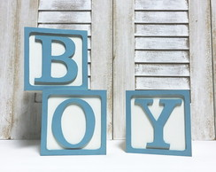 BOY Cubos Decor - 7X7cm c/ moldura