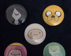 Kit 5 Bottons / Broches Adventure Time