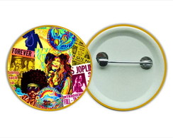 Botton 3,5 - Buton Joplin Hendrix Hippie