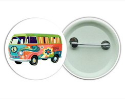 Botton 3,5 - Buton Hippie kombi Love