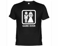 Camisetas Engraçadas Game Over