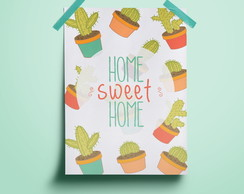 Poster Home Sweet Home Cacto#5