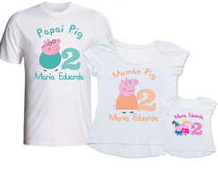 Kit Camisetas 3 Un - Peppa Pig