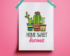 Poster Home Sweet Home Cacto#1