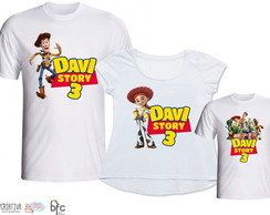 Kit Camisetas 3 Un - Toy Story