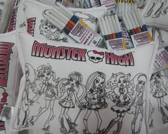 Mini Almofada para Colorir Monster High