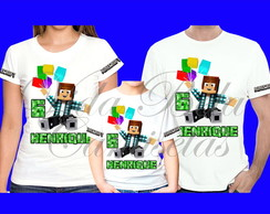 Kit Camisetas Minecraft Authentic Games