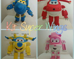 Super Wings - Kit com 4 personagens