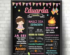 Arte digital Chalkboard Junino