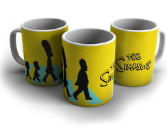 Caneca Simpsoms Abbey Road