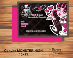 CONVITE MONSTER HIGH (DRACULAURA)