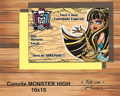 CONVITE MONSTER HIGH (CLEO DE NILE)