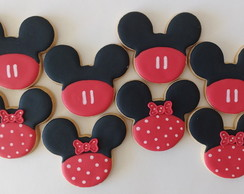 Biscoito Decorado - Mickey e Minnie