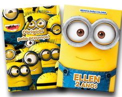 revista colorir minions 14x10