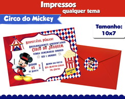 Convite Circo do Mickey