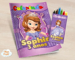 Kit colorir Princesa Sofia giz de cera