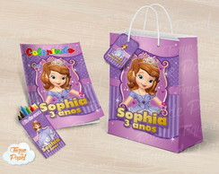 Kit colorir Princesa Sofia giz sacola