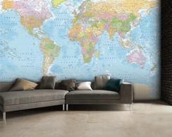 Papel mapa elo7 - Papel pared mapa mundi ...