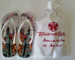 Chinelos personalizados tomorrowland