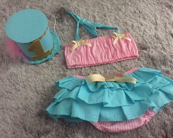 conjunto smash the cake rosa e azul
