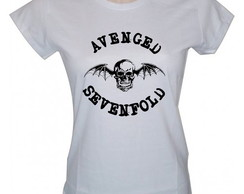 Baby Look Avenged Sevenfold Camisa Rock