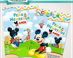 Revista Colorir A casa do Mickey