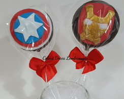 Pirulitos de chocolate Vingadores