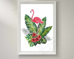Quadro Decorativo (Flamingo)