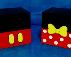 Kit - Mickey - Minnie - 02 Cubos - 15 x 15 x 15