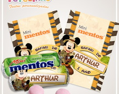 Rótulo mini mentos Mickey safari