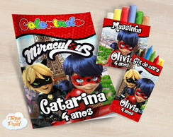 Kit colorir Ladybug giz massinha