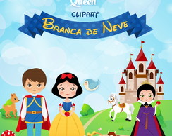 Branca de Neve ClipArt | Kit Digital