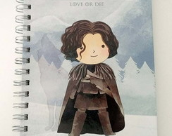 Caderno pontilhado 75g A5 Bujo - Game Of Thrones Snow