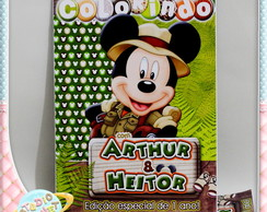 Revista de colorir Mickey Safari