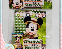 Kit de colorir Mickey Safari