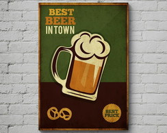 Quadro Poster Mdf, Tema Beer 01