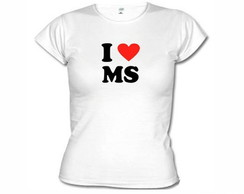 Camisetas Eu Amo Ms Mato Grosso Do Sul