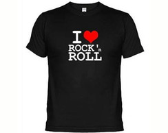 Camisetas Eu Amo Rock' N Roll
