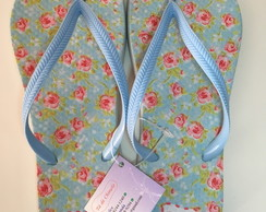 Chinelo Floral Personalizados