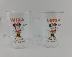 Caneca de Chopp Transparente Minnie