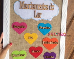 Quadro mandamentos do lar