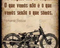Placa Decorativa Frases Moto